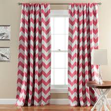Curtain Pair Lush Decor Chevron Blackout Window Curtain Pair Walmart