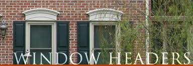 Decorative Windows For Houses Fypon Window Headers Vinyl Window Headers Sunbursts And