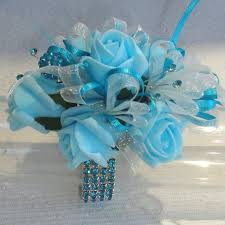 Turquoise Corsage Prom Corsages Wedding Corsage The Floral Touch Uk