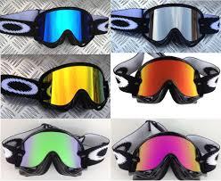 oakley motocross goggles oakley crowbar tagline red blue clear lens