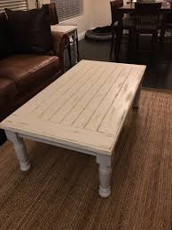 chalk paint farmhouse table 2x6 s framed around 2x4 s with a round over routed edge white chalk