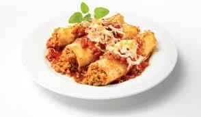 cuisine italienne cannelloni cannellonis gratinés à la chair de saucisse italienne douce olymel