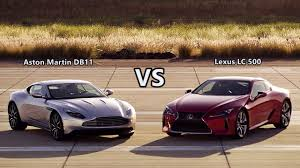 lexus lc 500 cool and aggressive luxury 2017 aston martin db11 vs 2018 lexus lc 500 test drive youtube