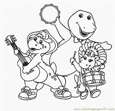 barney 50 coloring free barney coloring pages