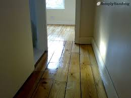 how to finish a wooden floor simply sanding