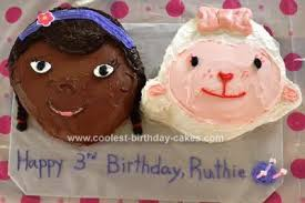 doc mcstuffin birthday cake coolest doc mcstuffins and lambie birthday cake