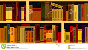 seamless background from bookshelves royalty free stock photos