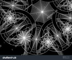 set abstract spiderweb designs backgrounds suitable stock