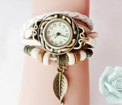 beaded bracelet watches images Beaded woven leather layered bracelet watch ancient explorers jpg