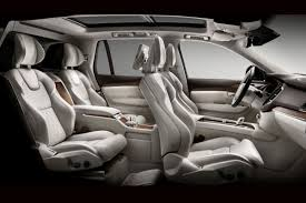 luxury minivan interior super luxury volvo xc90 excellence set for shanghai debut