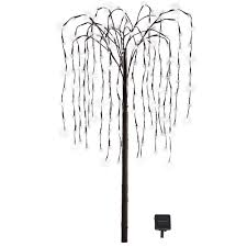 collections etc wbi32797 willow tree outdoor decoration with solar