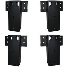 elevators 4 in x 4 in straight brackets set of 4 e100 the