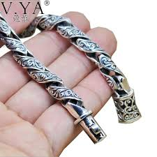 silver bracelet styles images Pure 925 sterling silver bracelet for men 2 styles qatalyst jpg