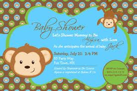 monkey themed baby shower invitations monkey themed baby shower