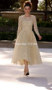 long sleeve ankle length wedding dress ivo hoogveld