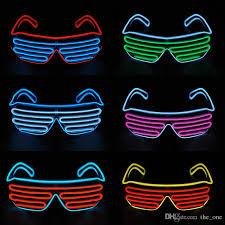 Halloween Neon Costume Led El Wire Neon Flashing Glasses Christmas Birthday