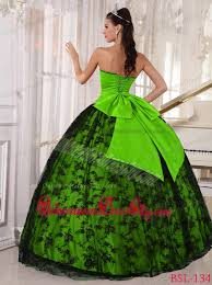 green quinceanera dresses green and black sweetheart floor length tulle and taffeta