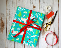 children s woodland wrapping paper with owls