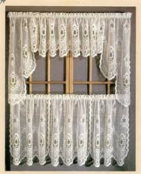 Cheap Kitchen Curtains Sterling Lace Kitchen Curtains With Tier Swags Valances Alex