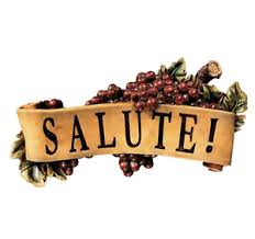 salute wall sculpture tuscan kitchen dinner grapes plaque home