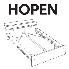 Hopen Bed Frame Ikea Ikea Hopen Bed Frame Replacement Parts Furnitureparts