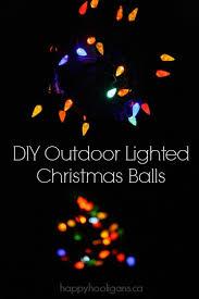 outdoor lighted christmas balls happy hooligans
