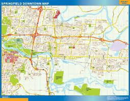 springfield map springfield downtown map netmaps usa wall maps shop