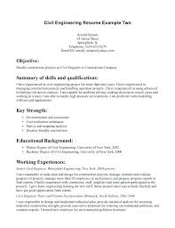 sample resume for civil engineering student graduate civil