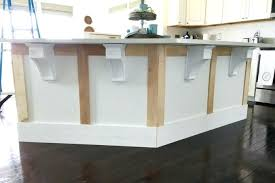 how to install a kitchen island marvelous install kitchen island figure supporting counter overhang