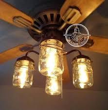 hunter mason jar ceiling fan ceiling fan light kit lacomensal co