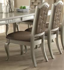 dining table 62080 in champagne by acme w options francesca dining table 62080 in champagne by acme w options