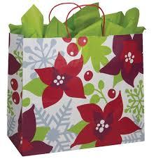 poinsettia bags box and wrap
