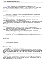 Resume Sample Unix Administrator by Linux Admin Resume Sample Resume For Your Job Application