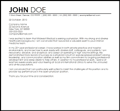 cover letter wording leading professional doctor cover letter examples resources best