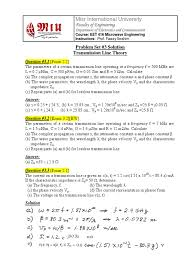 eet416 problem set 3 solution transmission line theory