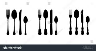 Cutlery Sets Three Cutlery Sets Modern Vintage Stock Vector 587801540