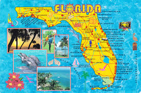 Map Of Florida With Cities Florida Map With Beaches My Blog