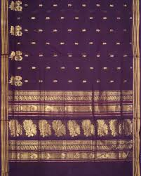 purple shade venkatagiri cotton saree in dark purple shade handloom or