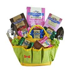garden gift basket garden tote with chocolates gift basket xx gtwcgb the home depot