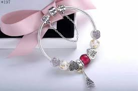 pandora jewelry silver bracelet images Eiffel tower theme pandora charm bracelet with 8 pcs unforgetable JPG