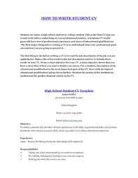Free Student Resume Template Job Resume Template For High Student College Student