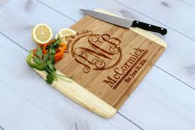 cutting board wedding gift buy a made personalized cutting board engraved cutting board