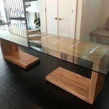 how to make a glass table glass top solid wood dining table rectangular glass top dining