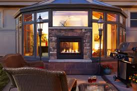 indoor outdoor see through gas fireplace differences