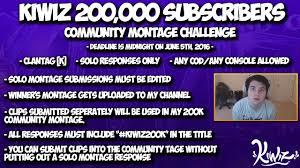 Challenge Montage Kiwiz 200k Subscribers Community Montage Challenge K