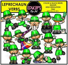 leprechauns u2013 parts of speech clip art big bundle color and b u0026w