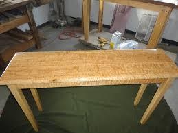 Red Oak Table by Curly Red Oak Side Table By Noblevfd Lumberjocks Com