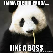 Sad Panda Meme - imma fuckin panda like a boss sad panda bear meme generator