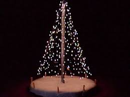 creative christmas tree lights chic and creative christmas tree light hanging pole how to hang