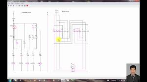 three phase motor control circuit star delta star stop on